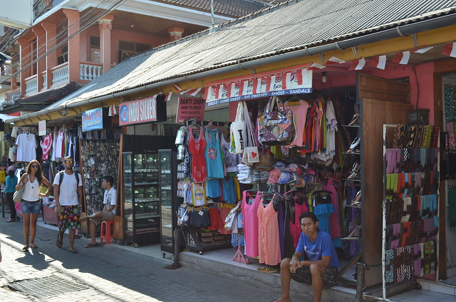 Kuta Bali has hundreds of streets full of souvenir shops like these