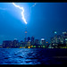 Lightning strikes CN Tower by mike.tan