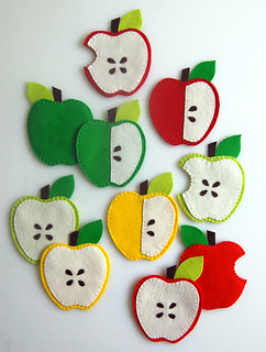 Molly's Sketchbook:  Apple Coasters