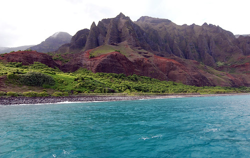 Na Pali coast via boat