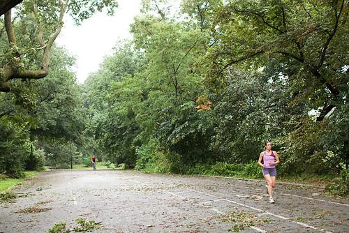 Jogging in Prospect Park