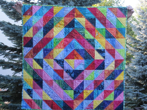 Warm and Cool Quilt along-Batiks by bhaferko