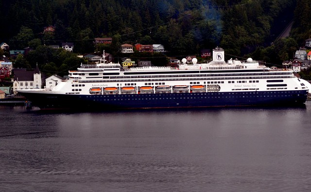 Cruise ship - Holland America Amsterdam in Alaska
