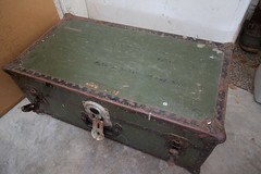 chest, baggage, trunk, iron, antique,