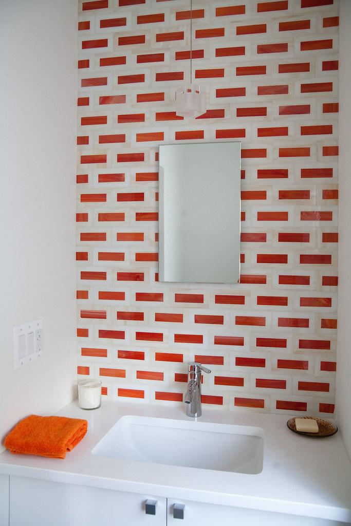 Orange tile