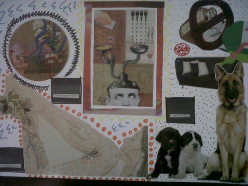 El perro en la galería de arte.