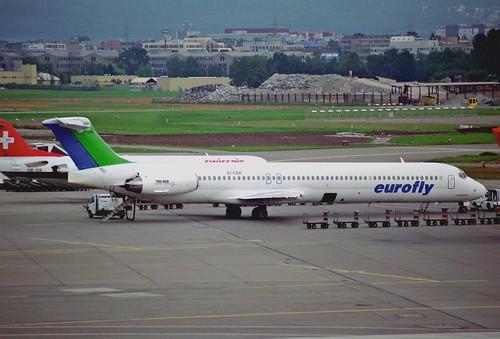 Eurofly MD-83; EI-CEK@ZRH;11.08.1995