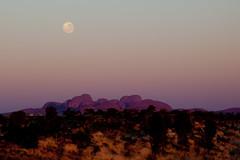 Full moon over Kata Tjuta