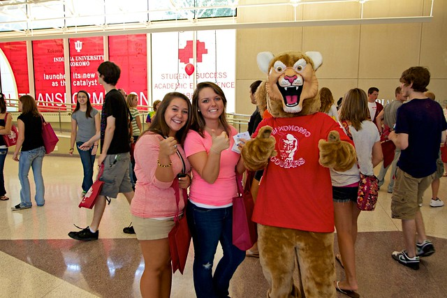 Students with the Cougar