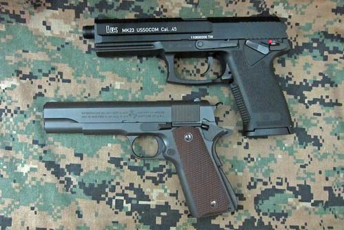HK Mk23 vs. Colt M1911A1