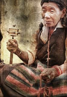Tibetan woman .. Nepal 1989