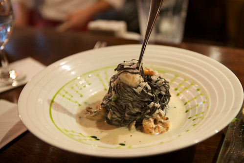 Squid ink pasta at Cicciolina