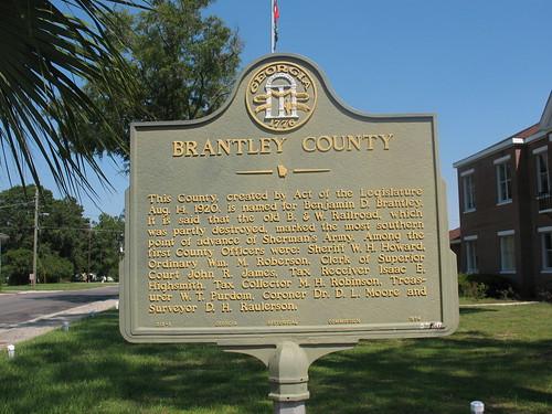 georgia brantleycounty historicmarker posrus ©lancetaylor