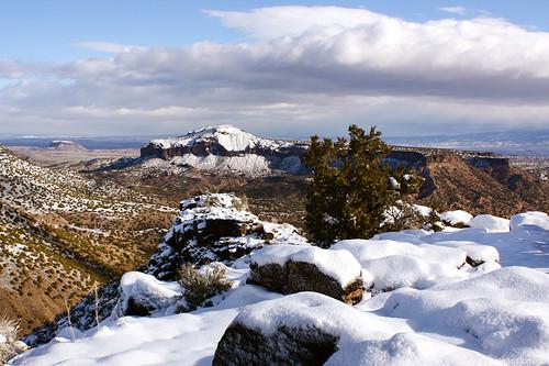 snow whiterockoverlook newmexico winter whiterock unitedstates america usa