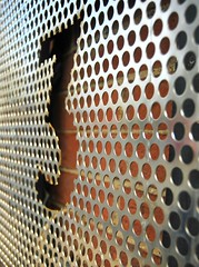 metal, mesh, line, close-up, iron, circle,