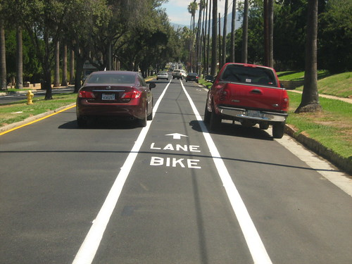 Brookside bike lane by cyclotourist