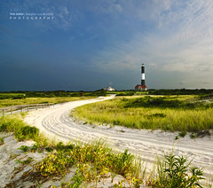 Road to the Fire Island Lighthouse at Sunrise