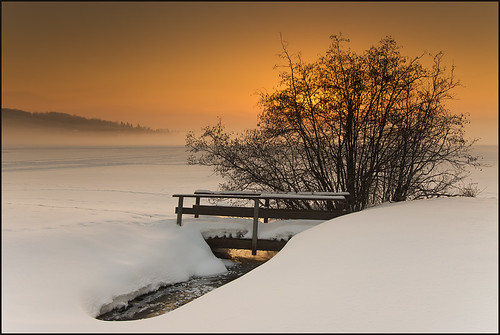 winter ontario canada nature sunrise landscape huntsville january