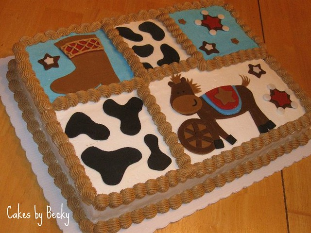little cowboy baby shower cake flickr photo sharing