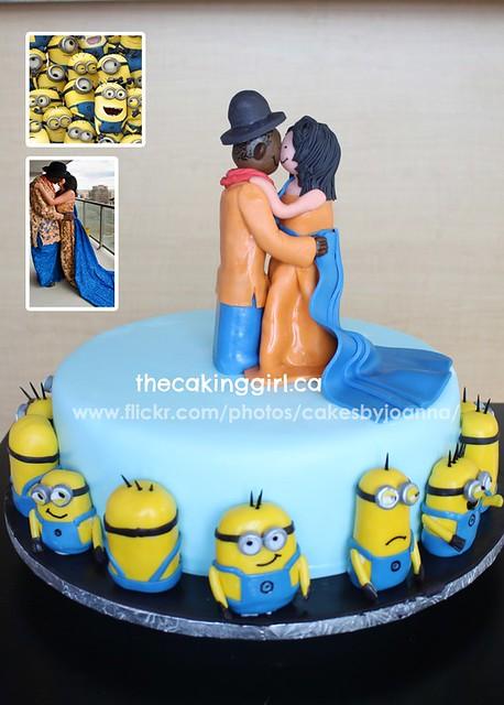 Despicable Me wedding cake