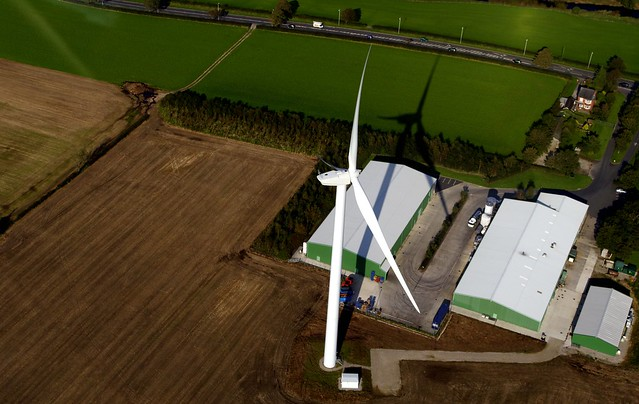 Wind power - Garstang wind turbine, Lancashire