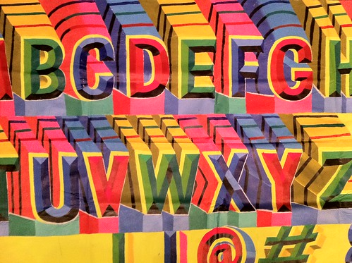 Indian sign painter's alphabet by Nick Sherman