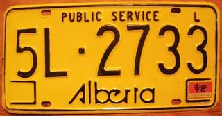 ALBERTA 1975-84 LIVERY PLATE