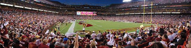 2011 - Redskins vs Steelers - Pano of the field