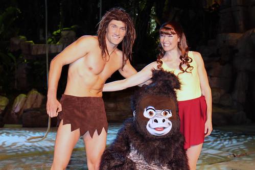 Meeting Tarzan, Jane and Terk after The Tarzan Encounter
