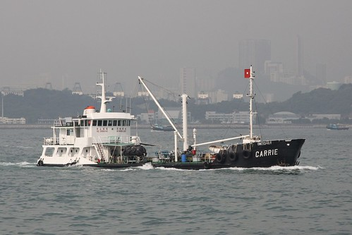 Oil product tanker 'Carrie' on Hong Kong's Victoria Harbour