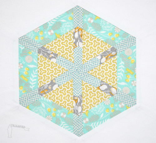 3x6 Bee Block Hive 15 for Annamal Quilts