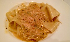 pappardelle, pasta, fettuccine, food, dish, carbonara, cuisine,