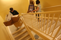 floor, baluster, wood, handrail, stairs,