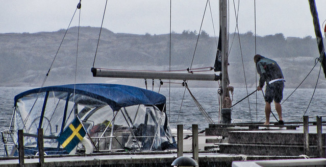 Bad weather at the harbour - 2