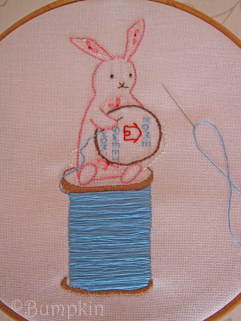 Bunnies Love Embroidery Too - Hand Embroidery Pattern | Flickr - Photo Sharing!