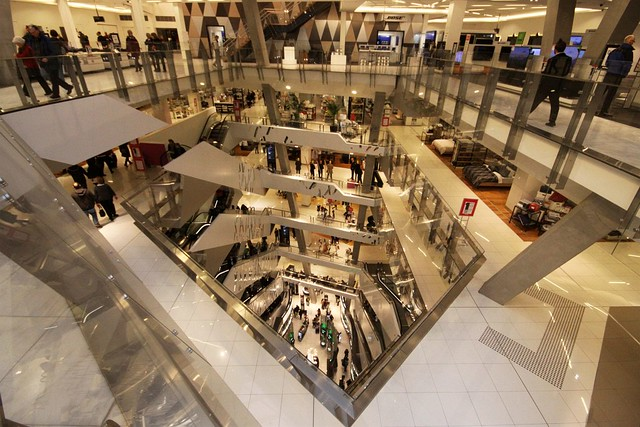 Atrium at Myer's Melbourne department store