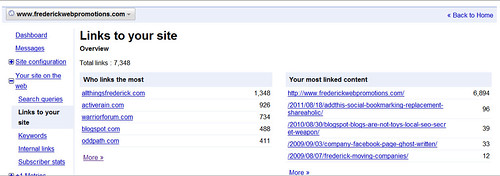 Google Webmaster Tools Now Shows 7348 Links