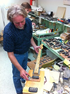 Steve Grom and David McLaren give us the tour of Leo's lab @GandLGuitars
