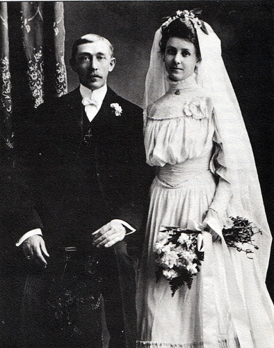 Fred and Amanda (Prescott) Tiedt's Wedding Photo, 1905 | by IndianPrairie