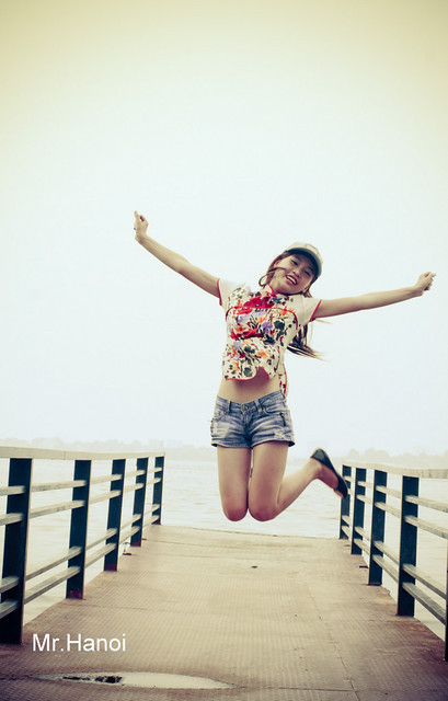 Hanoi Teen Girl in west lake