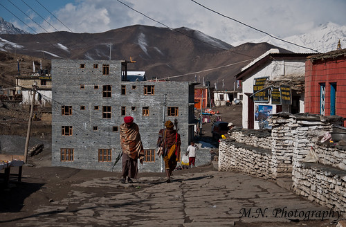 The main street in Muktinath
