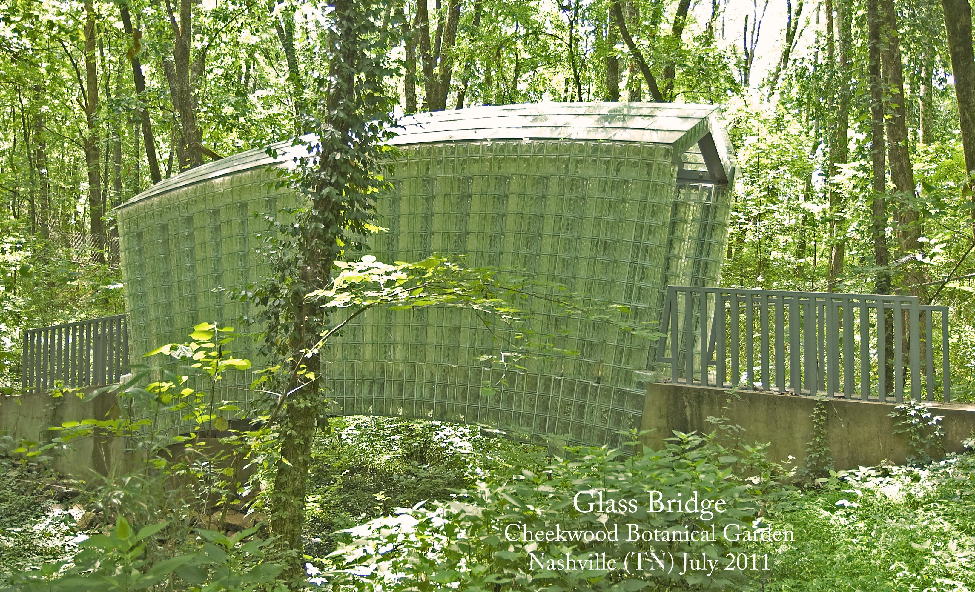 Glass Bridge Siah Armajani Cheekwood Botanical Garden Nashville Tn July 2011 Flickr