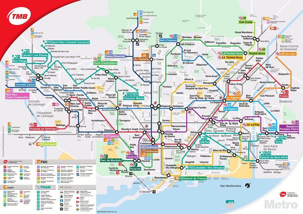Subway Map Barcelona.Barcelona Metro Map Barcelona Metro Map At 2011 F Q Flickr