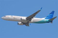 Garuda Indonesia Boeing 737-800; PK-GFF@HKG;31.07.2011/614sz