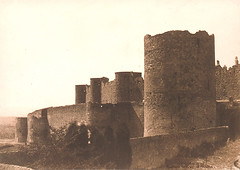 The Ramparts of Carcassonne, 1851, by Gustave Le Gray
