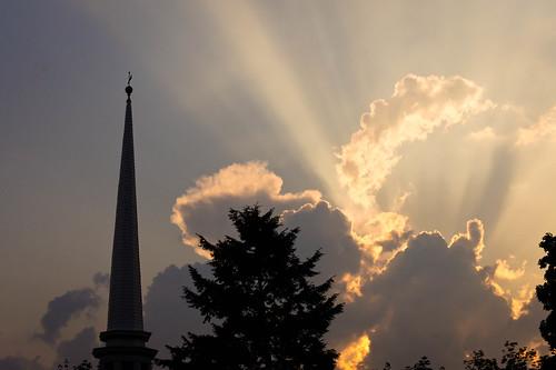 sunset newyork beautiful clouds outside scenic steeple catskills woodstock ulster olddutchchurch