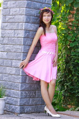 [フリー画像素材] 人物, 女性 - アジア, ベトナム人, ワンピース・ドレス ID:201202252200