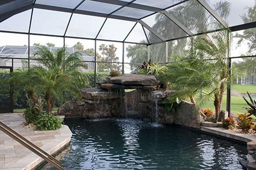 waterfall swimming pool natural stone grotto 1 www