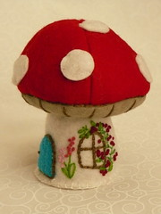 A mushroom pincushion for Sherri