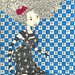 doll with tiles wall and flowers in hair  by Cecília Murgel Drawings